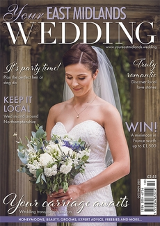 Cover of the October/November 2021 issue of Your East Midlands Wedding magazine