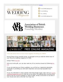 Your East Anglian Wedding magazine - March 2021 newsletter
