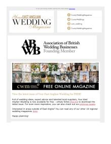 Your East Anglian Wedding magazine - July 2021 newsletter