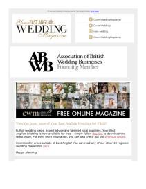 Your East Anglian Wedding magazine - August 2021 newsletter
