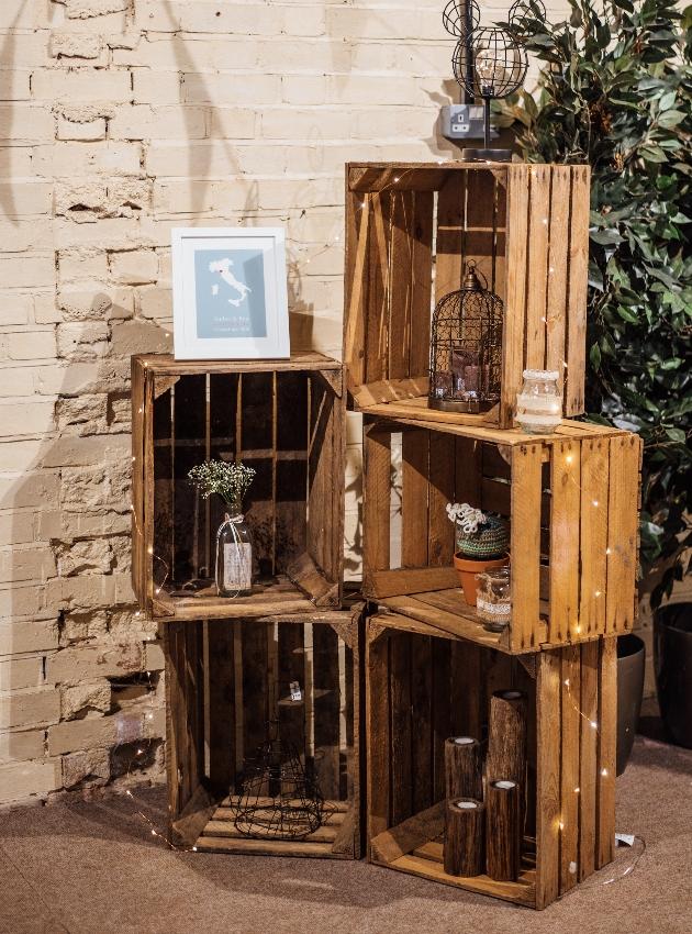Decorated crates