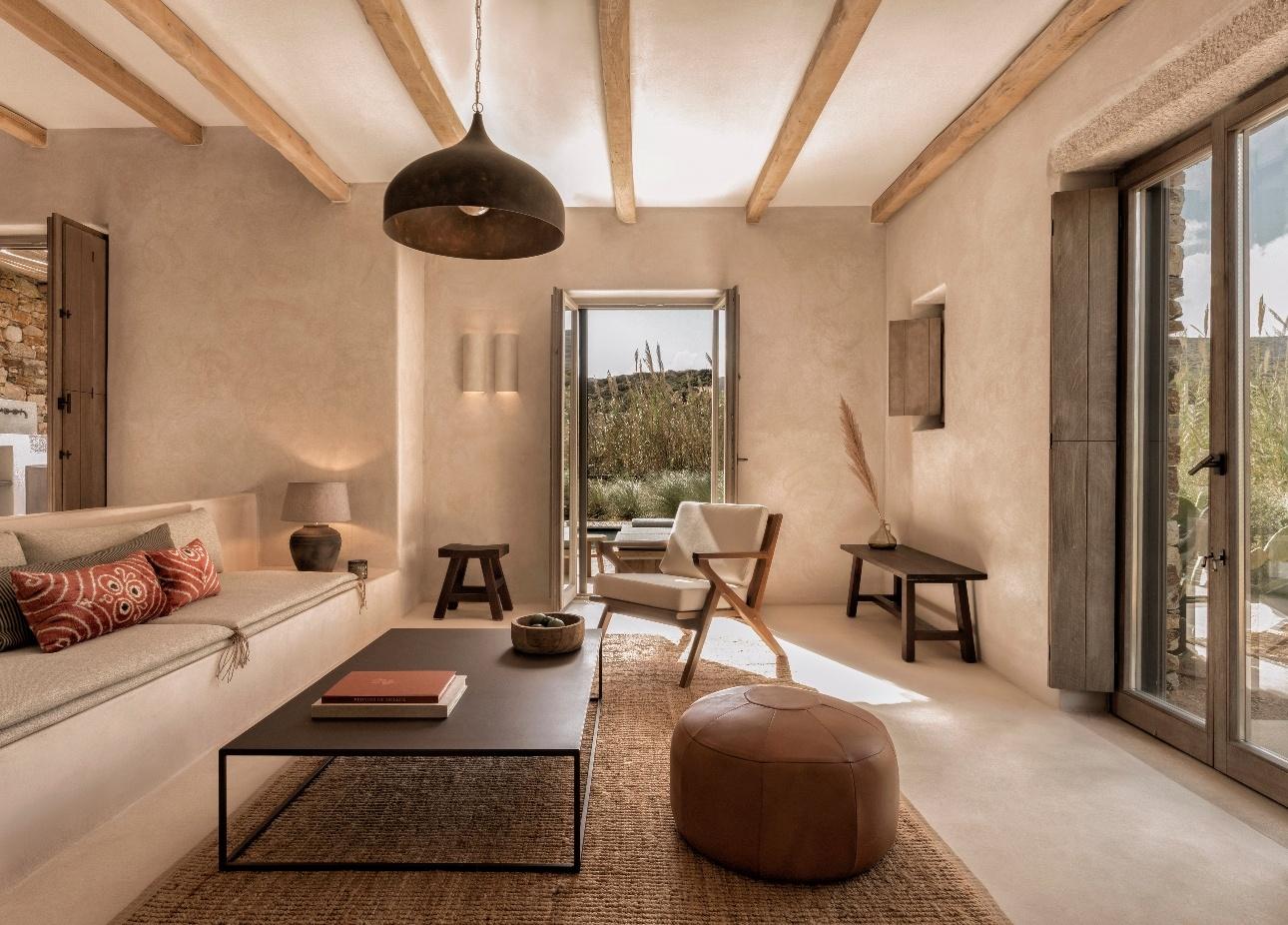 interior of suite simplistic style neutral decor