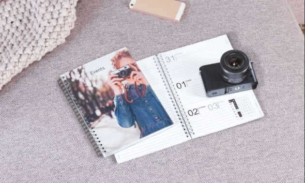 personal organiser with photo on front